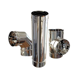 Chimenea INOX Paret Simple (Aisi 304)